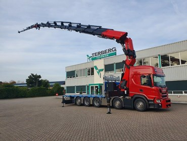 Truck-mounted cranes...